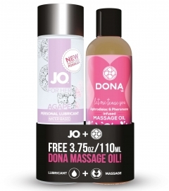 System JO - Agape Glijmiddel 120 ml & FREE Dona Massage Oil 110 ml