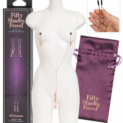 Fifty Shades Freed Chains & Clamps All Sensation - svorky na bradavky