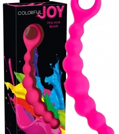 Colorful Joy Pink Anal Beads - análne korále (pink)