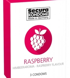 Secura Raspberry - Condom Condoms (3db)
