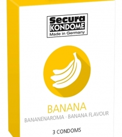 Secura Banana - Condom Condoms (3db)
