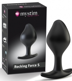 Mystim Rocking Force S - electro cone dildo - small (black)