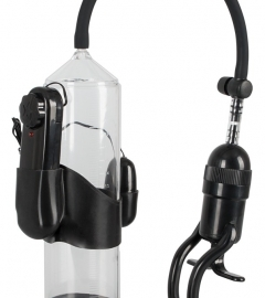 Mister Boner Vibration - Vibration Penis Pump (Transparent-Black)