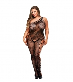 Baci - Off the Shoulder Bodystocking Queen Size