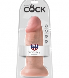 King Cock 10 Dildo (25cm) - Natural