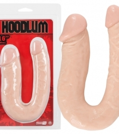 Hoodlum 16 - asymmetric double dildo - natural (40cm)