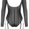 Petite Noir Exclusive - Long Sleeve Stripe Body (Black)