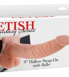 Hollow Strap-on with Balls - 9 inch